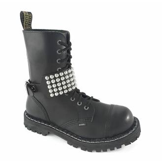 Schuhkette mit Leder und Nieten