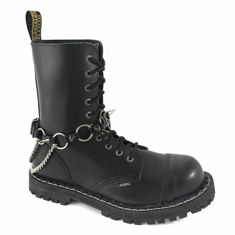 Halsband (Schuhaccessoire) Umgekehrte Kreuze und Ringe, Leather & Steel Fashion