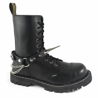 Halsband (Schuhaccessoire) Große Nieten, Leather & Steel Fashion