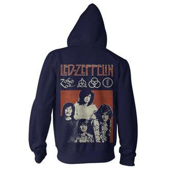 Herren Hoodie Led Zeppelin - Photo Navy, NNM, Led Zeppelin
