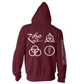 Herren Hoodie Led Zeppelin - Symbols Maroon, NNM, Led Zeppelin
