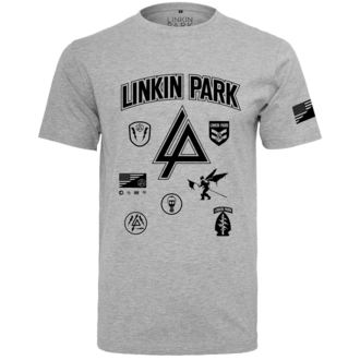 Herren T-Shirt Metal Linkin Park - Patches - URBAN CLASSICS, NNM, Linkin Park