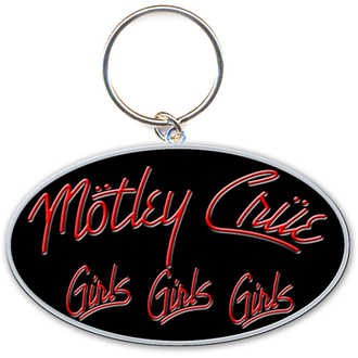 Schlüsselanhänger - Anhänger  Mötley Crüe (Girls, Girls, Girls Logo) - ROCK OFF, ROCK OFF, Mötley Crüe