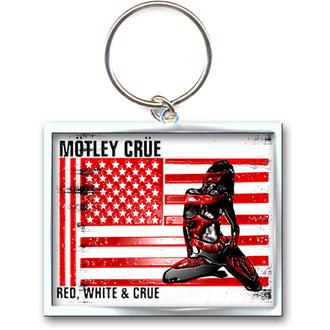 Schlüsselanhänger - Anhänger  Mötley Crüe (Red, White & Crüe Logo) - ROCK OFF, ROCK OFF, Mötley Crüe