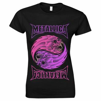 Damen-T-Shirt Metallica - Yin Yang Lila - Schwarz, NNM, Metallica