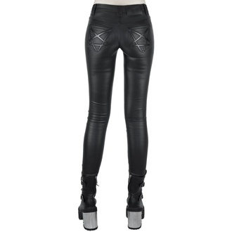 Damen Hose KILLSTAR - Nocturnal Coated Jeans - SCHWARZ - KSRA001523