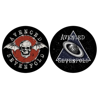 Drehbares Pad (2er Set) AVENGED SEVENFOLD - SKULL / SPACE, RAZAMATAZ, Avenged Sevenfold