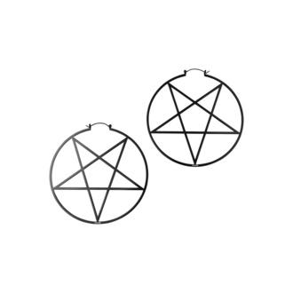 Ohrring KILLSTAR - Pentagram Hoop - Schwarz, KILLSTAR