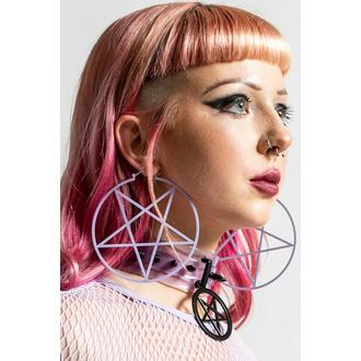 Ohrring KILLSTAR - Pentagram Reifen - Lila, KILLSTAR
