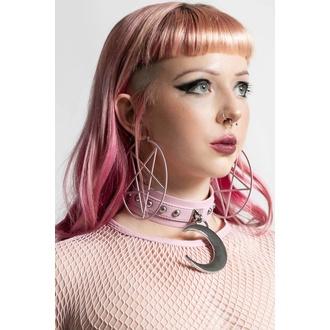 Ohrring KILLSTAR - Pentagram Hoop - Pastell Pink, KILLSTAR
