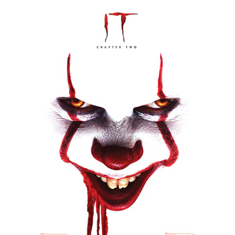 Poster IT 2 - Pennywise face - PYRAMID POSTERS, PYRAMID POSTERS