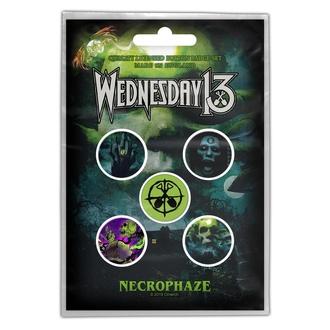 Buttons WEDNESDAY 13 - NECROPHAZE - RAZAMATAZ, RAZAMATAZ, Wednesday 13