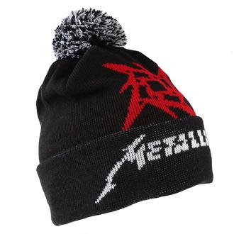 Wintermütze Metallica - Glitch Star Logo - Schwarz Gewebt Bommel, NNM, Metallica