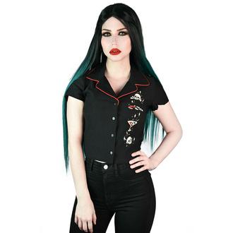 Damenshirt KILLSTAR - She Devil - Crop Bowling - Schwarz, KILLSTAR