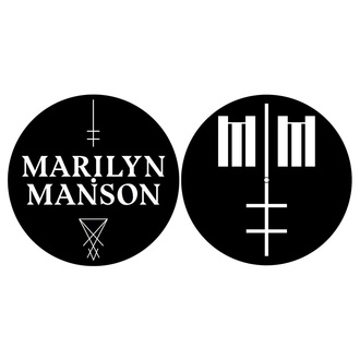 Grammophonmatte (2er Pack) Marilyn Manson - Logo / Kreuz - RAZAMATAZ, RAZAMATAZ, Marilyn Manson