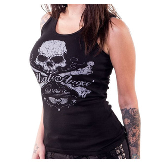 Damen Tanktop LETHAL THREAT - ANGEL SKULL N CROSSBONES, LETHAL THREAT