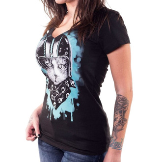 Damen T-Shirt Hardcore - ANGEL BIKER CAT - LETHAL THREAT, LETHAL THREAT