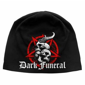 Mütze DARK FUNERAL - Schädel & Pentagramm, RAZAMATAZ, Dark Funeral