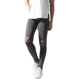 Damen Hose Leggings URBAN CLASSICS - Cutted Knee Leggings - acid schwarz, URBAN CLASSICS