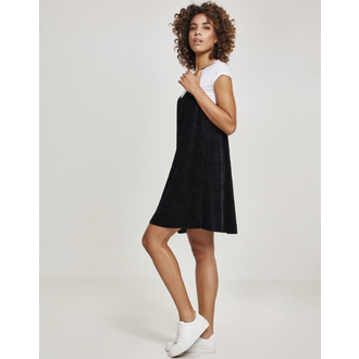 Damen Kleid URBAN CLASSICS - Velvet Slip - TB2352-black