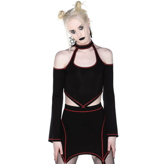Damen Crop Top Longsleeve KILLSTAR - Techno Witch, KILLSTAR