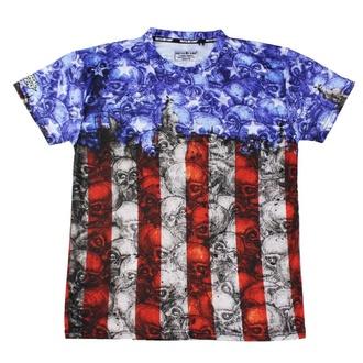Herren T-Shirt Hardcore - SKULL CAMO USA FLAG - LETHAL THREAT, LETHAL THREAT
