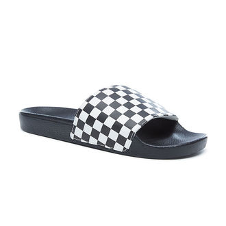 Männer Zehentrenner VANS - Slide-On (Checkerboard) - Black/White, VANS