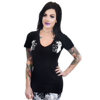 Damen T-Shirt Gothic Punk - HAUNTED HOUSE & GHOSTS - TOO FAST, TOO FAST