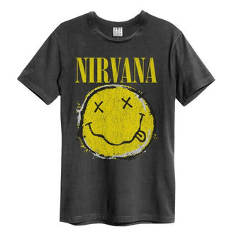 Herren T-Shirt Metal Nirvana - Worn Out Smiley - AMPLIFIED - ZAV210DNS