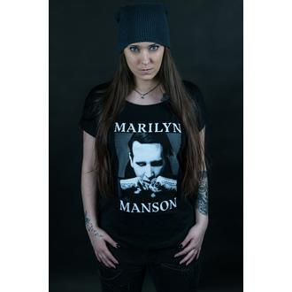 Damen T-Shirt Metal Marilyn Manson - Fists - ROCK OFF, ROCK OFF, Marilyn Manson