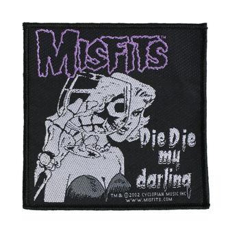 Aufnäher MISFITS - DIE DIE MY DARLING - RAZAMATAZ, RAZAMATAZ, Misfits