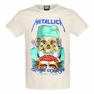 Herren T-Shirt METALLICA - CRASH KURS - VINTAGE WHITE - AMPLIFIED, AMPLIFIED, Metallica