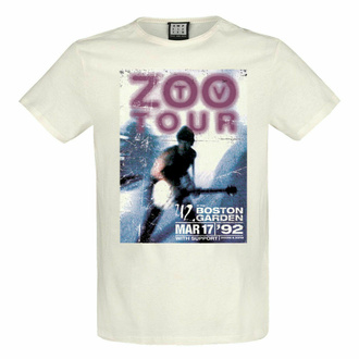 Herren T-Shirt U2 - ZOO TV TOUR - VINTAGE WHITE - AMPLIFIED, AMPLIFIED, U2
