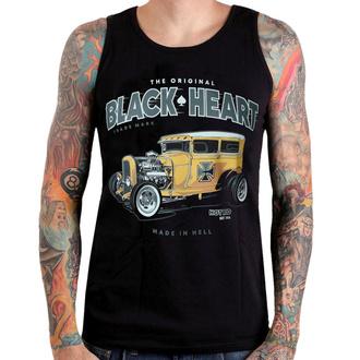 Herren Tanktop BLACK HEART - YELLOW BOY HOT ROD - SCHWARZ - 002-0044-BLK