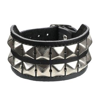 Armband Pyramiden 2 - vegan, BLACK & METAL