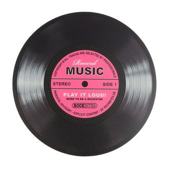 Mauspad Record Music - Pink, Rockbites