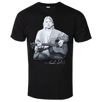 Herren T-Shirt Kurt Cobain - Guitar Live Photo - ROCK OFF, ROCK OFF, Nirvana