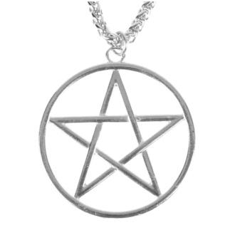 Halskette mit Anhänger Pentagramm, FALON
