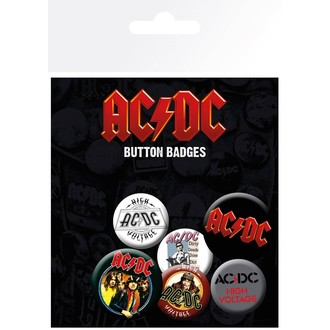 Buttons Set AC / DC - GB posters, GB posters, AC-DC