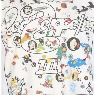 Herren T-Shirt Led Zeppelin - III Album - Weiß, NNM, Led Zeppelin