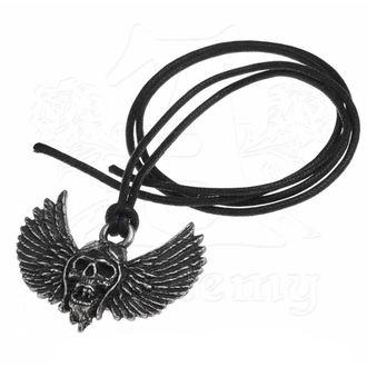 Halskette mit Anhänger Airbourne - Schädel / Flügel - ALCHEMY GOTHIC, ALCHEMY GOTHIC, Airbourne