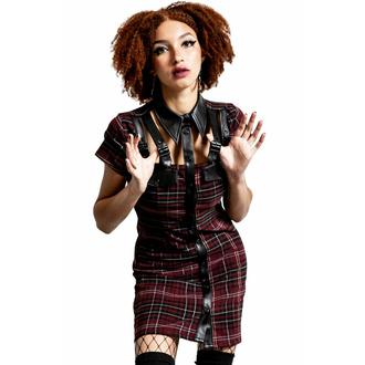 Damen Kleid KILLSTAR - All Attitude Cut-Out - Blood -TARTAN, KILLSTAR