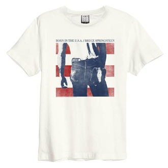 Herren T-Shirt BRUCE SPRINGSTEEN - BORN IN THE USA - JAHRGANG WEISS - AMPLIFIED, AMPLIFIED, Bruce Springsteen