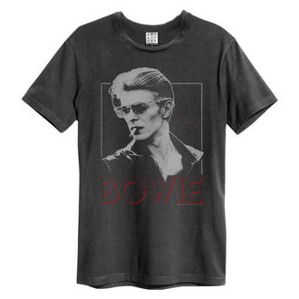 Herren T-Shirt DAVID BOWIE - 80S ERA - HOLZKOHLE - AMPLIFIED, AMPLIFIED, David Bowie
