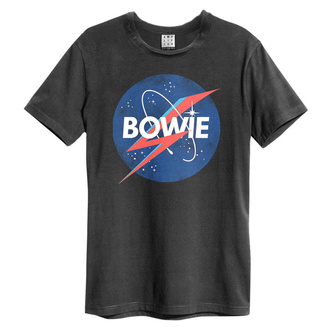 Herren T-Shirt BOWIE - TO THE MOON - HOLZKOHLE - AMPLIFIED, AMPLIFIED, David Bowie