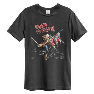 Herren T-Shirt IRON MAIDEN - 80S TOUR - HOLZKOHLE - AMPLIFIED, AMPLIFIED, Iron Maiden
