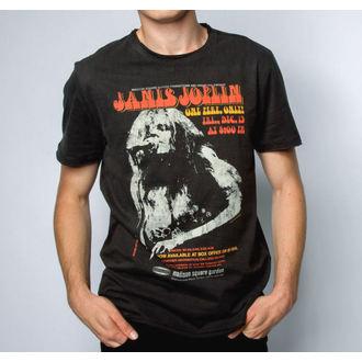 Herren T-Shirt JANIS JOPLIN - MADISON SQUARE GARDENS - HOLZKOHLE - AMPLIFIED