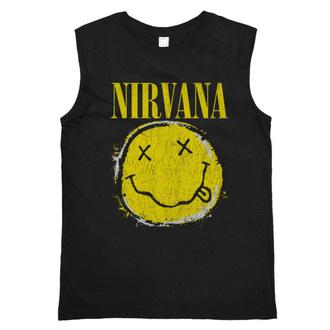 Herren Tanktop NIRVANA - WORN OUT SMILEY - SCHWARZ - AMPLIFIED, AMPLIFIED, Nirvana