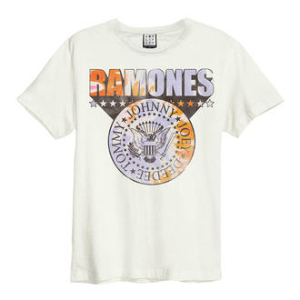 Herren T-Shirt RAMONES - TIE DYE SHIELD - VINTAGE WHITE - AMPLIFIED, AMPLIFIED, Ramones