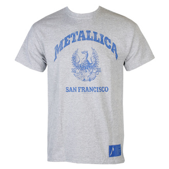 Herren T-Shirt Metallica - College Crest - Grau, NNM, Metallica